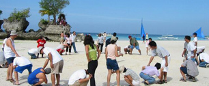 Escape the office - Beach olympics Team building