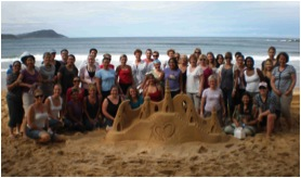 Sand Sculpting Team Building Activity